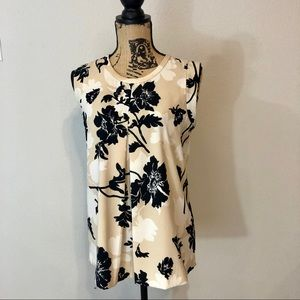 J. Crew Factory Printed Pleated-Front Top